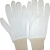 product - Interlock White Bleached Gloves With Grey Knitted Wrist