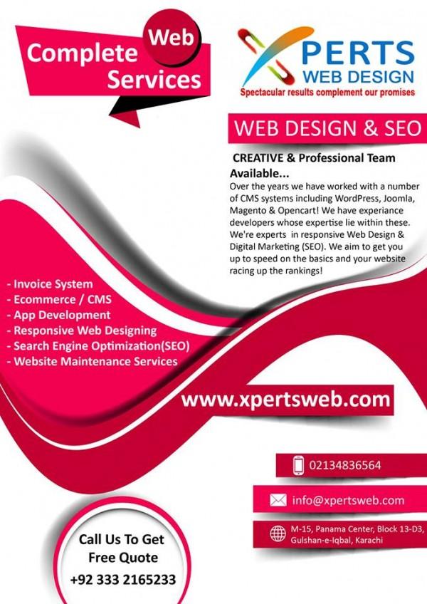 Xperts Web Design Karachi Pakistan Contact Phone Address