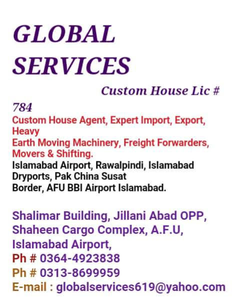 Import and Export Agents in Islamabad, Pakistan - List of Import and